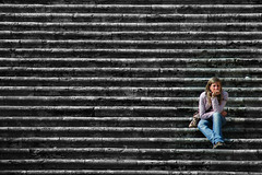 Thinking (noamgalai) Tags: people italy rome girl stairs photography photo sitting think picture photograph sit thinking april toscana seated noam allrightsreserved toddy toskana piazzadelpopolo  orvieto  todi photomania  noamg tody galai noamgalai   toddi wwwnoamgalaicom    siteportraits