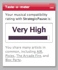 Last.fm: Taste-o-meter