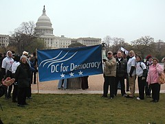 DC for Democracy in front of the Capitol