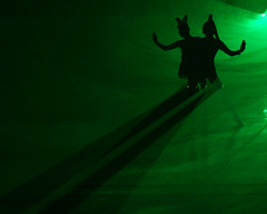 Butterfly Lovers (flopper) Tags: china shadow black green butterfly theater tragedy laser lasershow shocked straightlines folktale interestingness6 interestingness18 interestingness23 butterflylovers