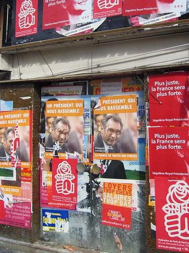 Campagne d'affichage pour les présidentielles 2007
