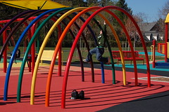 "Rainbow room ""swings"" at Clemyjontri Playground (drewsaunders) Tags: park work virginia spring vanity dcist mclean 2007 publicpark allisvanity clemyjontri featuredon"