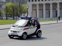 Why High-Speed Police Chases are Rare in Vienna (Mondmann) Tags: vienna wien travel tourism car austria europe cops police explore policecar vehicle polizei smartcar lawenforcement patrol oesterreich fujifilmfinepixs5000
