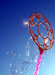 Bubble Wand _ 2 (Danarah) Tags: blue sky color florida negativespace april benefit fundraiser 2007 relayforlife walkathon panamacityfl americancancersociety blubbles teammudskippers 042007 myownfavorites2007 3taw49