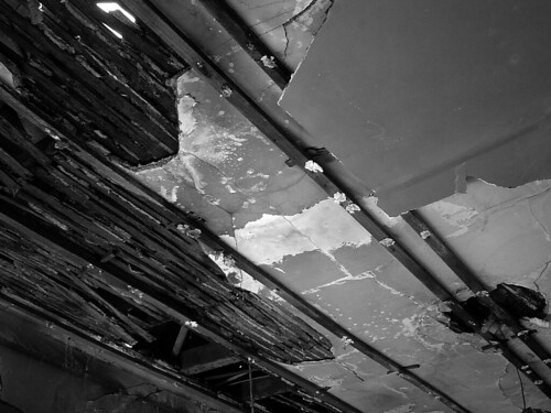 decayed ceiling