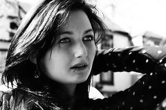 Sarah (gavinmullan) Tags: girl beauty hair blackwhite eyes sarahross