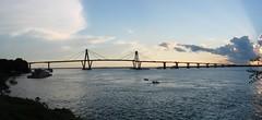 Puente Gral. Belgrano, visto desde Punta San Sebastian - Corrientes II (otogno) Tags: bridge sunset tree rio cat river puerto puente arbol san sebastian casino corrientes parana crepusculo avenue costanera novideo