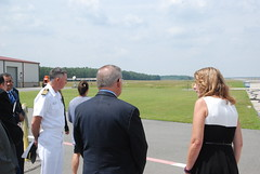 Menendez, Sec. of Navy Spencer Tour Lakehurst Navy Base