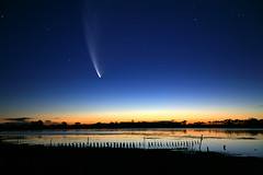 McNaught Comet over Big Swamp South Australia (john white photos) Tags: south australia peninsula comet eyre mcnaught bestofaustralia johnwhitegettyimages
