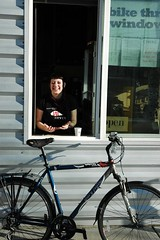 Bike-thru window at Black Sheep Bakery!