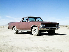The Machine (simonov) Tags: chevrolet desert 1966 mojave elcamino elmirage