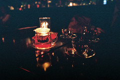 red in the dark (Prudence Ann) Tags: film japan night restaurant cafe natura fujifilm filmcamera np fukuoka friday iso1600 kyushu fridaynight redblack classica naturaclassica