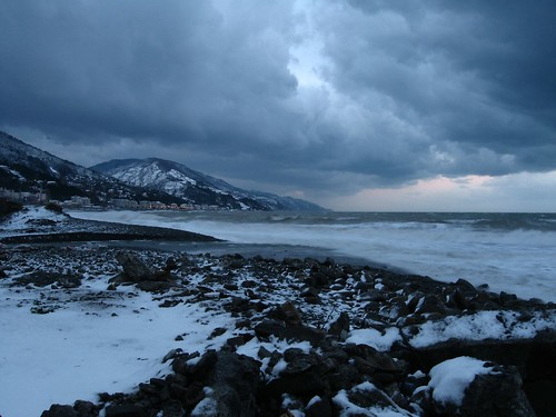 Black Sea coast looking towards Cide from Inebolu, Turkey