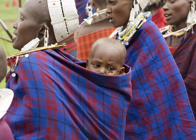 Masai Baby near Ngorongoro Crater