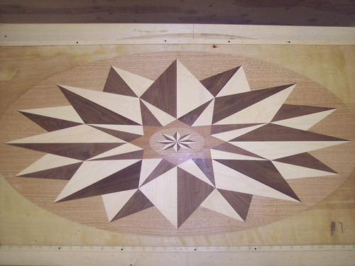 "Danny Medallion - 36"" x 72"" Hardwood Floor Inlay"