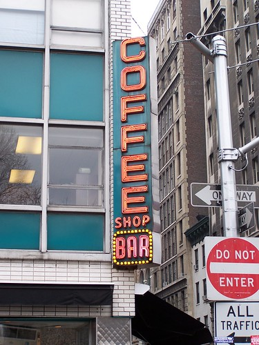 it's a coffee shop... AND a bar