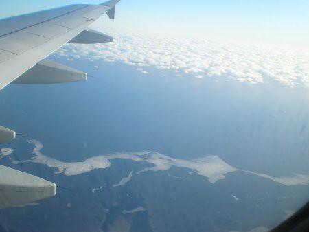 Mar congelado desde el aire