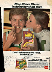 "Borden Cheez Kisses :: ""Now Cheez Kisses Taste Better Than Ever.""  - Save 10   (( 1978 )) (tOkKa) Tags: boy girl basketball cheese 10 borden 1978 coupon mild tangy kissey cheezkisses basketballjones tencentspasturized pasturizedprocesscheesespread"