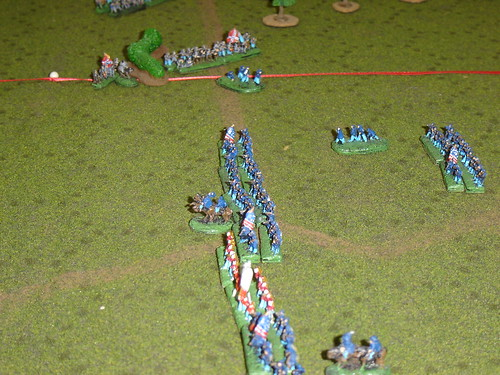 AJ Smith's division hit hard in the flank by Buford's brigade