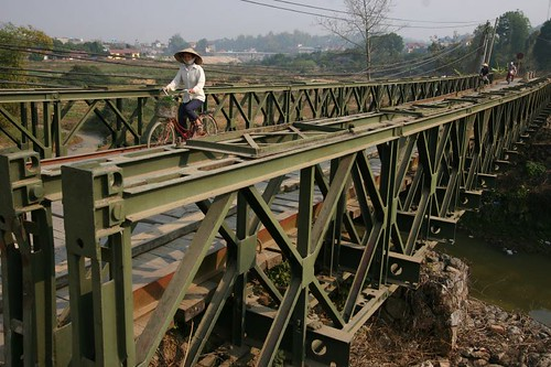 Muong Thanh Bridge in its original state...