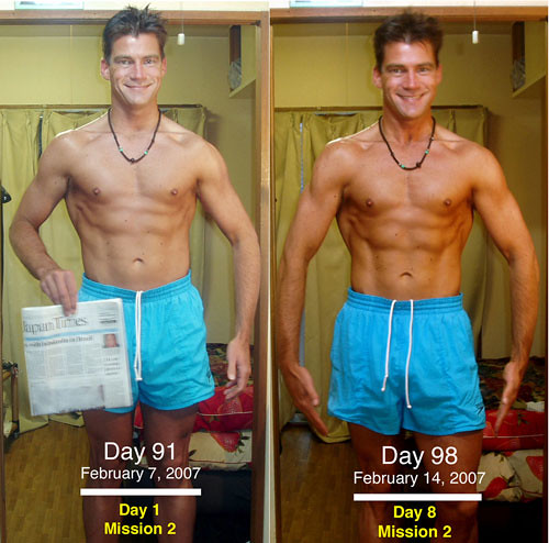 Adam Waters Weight Loss Mission2 Day1to8 Front Picture
