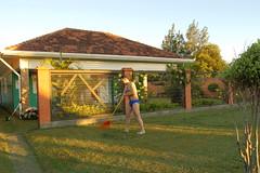 Arrumando o jardim
