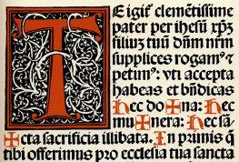 Medieval text with Latin script