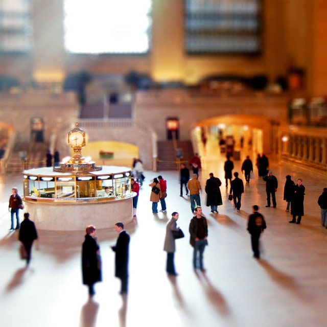 Grand Central, Tilt-Shift Fake, New York City