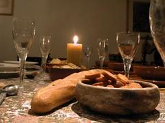 Gedekte etenstafel