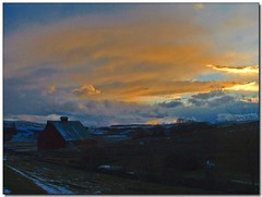 Just Before Sunset (Roger Lynn) Tags: winter sunset snow clouds barn bravo moscow arboretum idaho universityofidaho palouse karmafavorite