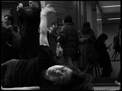 Dont know how to Explain this (Danz in Tokyo) Tags: people blackandwhite bw japan japanese tokyo women asia candid shibuya expressions monotone  nippon  fz30 nozoom realpeople danz danzintokyo candidandnozoom realtokyo tokyocandid