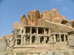 Archeological Site of Hampi, India (LeszekZadlo) Tags: india heritage history archaeology site ancient rocks columns unescoworldheritagesite worldheritagesite indie geology karnataka pillars geologist archeology indien hampi patrimoniodelahumanidad 5photosaday ph378