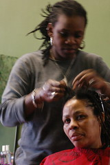 Having her hair done (4) (Emma T photography) Tags: caribbean hackney hairdressers