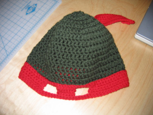 Free Crochet Teenage Mutant Ninja Turtle Hat Pattern Image
