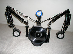 Black Lobster with Floats (- drsteve -) Tags: camera black underwater scuba diving rig lobster housing floats aquatica