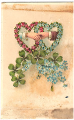 Vintage postcard (CGoulao) Tags: old two classic love portugal vintage paper hand post mail antique amor postcard duo valentine double romance lovers card oldphoto postal greetings papel papier valentin mo par namoro ancienne antigo dois clssico namorado trevo valentim correio diadosnamorados felicidades postalcard shakehand tarjetapostal postkard cartepostal bilhetepostal apertodemao