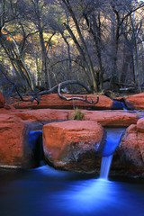 pouring memoirs (Eurythmic Photography) Tags: longexposure colour water redrocks canondslr earthscape supershot