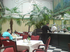 Breakfast at the Grand Hotel Krasnapolsky, Amsterdam.