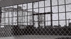 Funhouse mirror (ejstanz) Tags: reflection film architecture kodak linkping 400tmx