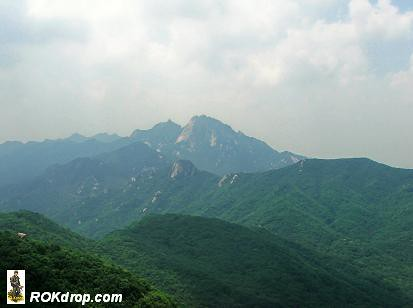 View of Pukhan Mountain from Dobongsan.