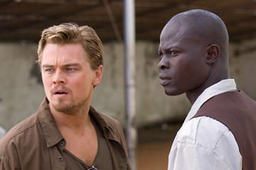 DiCaprio and Hounsou