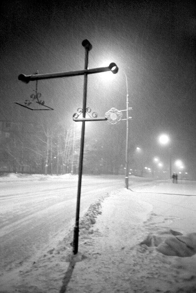 Снег в Зеленограде. 1980-е.