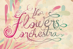 the flowers orchestra logo (andrs yeah) Tags: flowers music logo typography yeah orchestra indie type tipografia