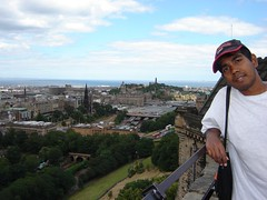 Pemandangan Edinburgh dari Edinburgh Castle, Edinburgh, Scotland, United Kingdom
