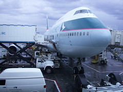 traveler : cathay! (tofu_minx) Tags: travel airplane cathay 747 aricraft