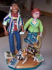 Miniature Masheka and Mikhaela (M1khaela) Tags: wedding sculpture cat miniature dolls crafts figurines clay sculpey