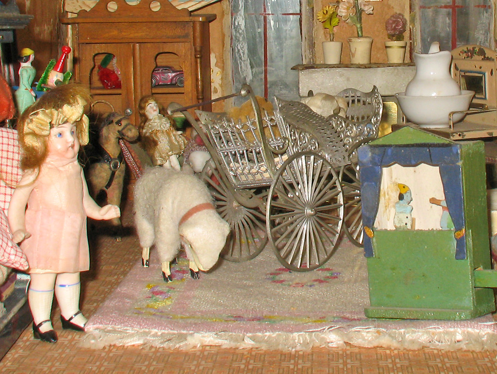 Antique Toy Puppet Theater