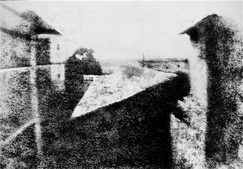La primera foto de la historia, Punto de vista desde la ventana de Gras de Joseph-Nicéphore Niépce