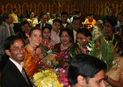 Reception crowds