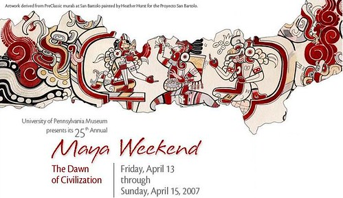 Screenshot of part of the home page for the 25th Annual Maya Weekend